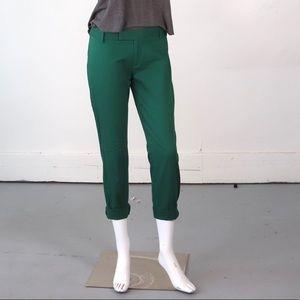 Green Gap slim cropped pants size 2 stretch
